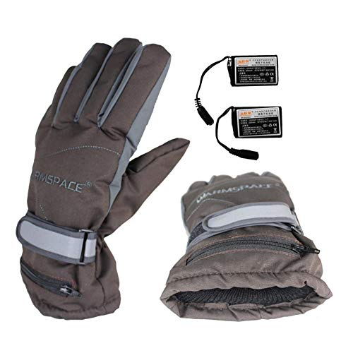 Rechargeable Heated Gloves for Men Women Battery Powered Windproof Winter Thermal Electric Gloves Mitten Hand Warmer for Arthritis Motorcycle Hiking Skiing Cycling Hunting ()