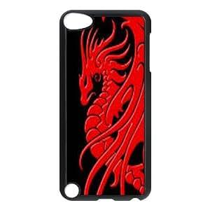 iPod Touch 5 Phone Case Black Dragon tribal WQ5RT7513803