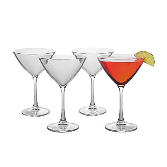 Unbreakable Martini Glasses - 100% Tritan - Shatterproof, Reusable, Dishwasher Safe (Set of 4) 3 4 Martini Glasses per set Shatterproof, reusable, and dishwasher safe beer glasses - BPA Free Each Martini glass is made from 100% Tritan, a durable plastic like material
