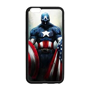 Captian America American Flag Custom Durable Hard Cover Case for iPhone 6 - 4.7 inches case - Black Case