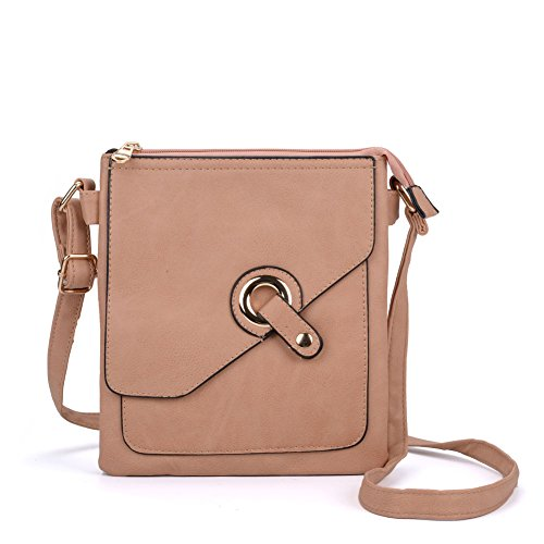 Leather Strap High Across Sally Young Women Fashion Pu Quality Apricot With Bag Body tqPYRfHn