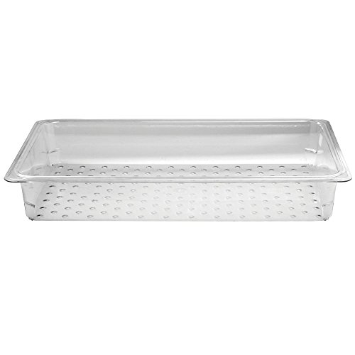 Cambro Camwear Clear Polycarbonate Colander Pan - Full Size 3