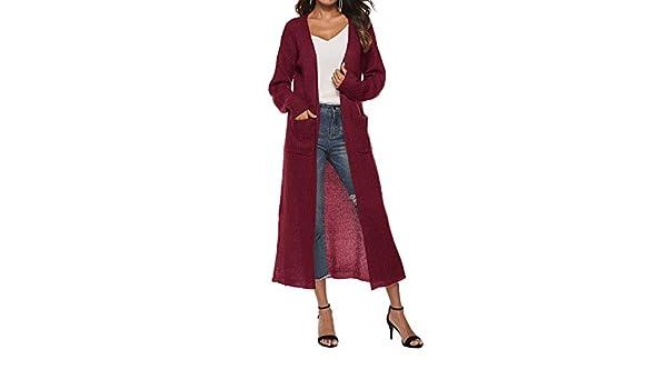 Amazon.com: Wool Coat Women Winter Autumn Blends Open Cape X-Long Warm Knitted Jacket Lady K: Clothing