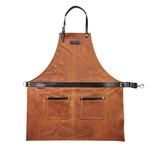 Penn Vintage Hat (Rugged Apron - Leather - Cognac - Made in USA)