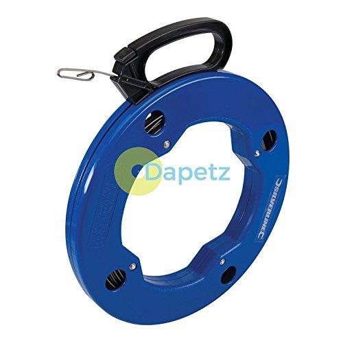 dapetz 30M PEZ Cinta Cable Acceso resorte Eléctrico Flexible resorte Acceso acero con ojos Extremo bebf5a