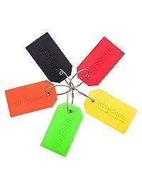 BlueCosto Flexible PVC Luggage Tags Suitcase Bag Labels -4/5pk