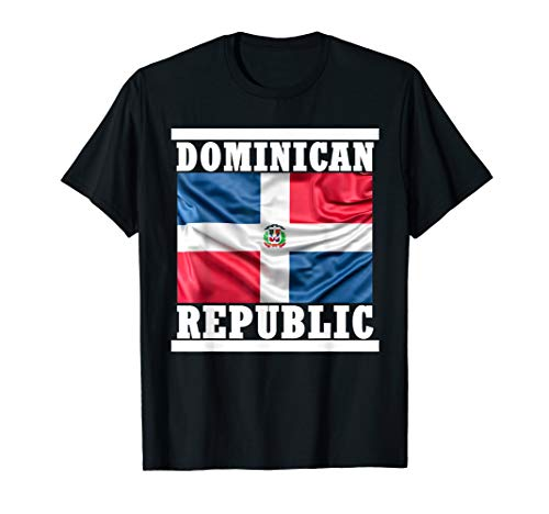 Dominican Republic Flag Country Seal Proud Dominicana T-Shirt (Dominican Republic Flag T-shirt)