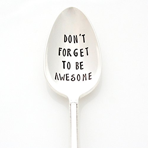 wesome. Hand Stamped Vintage Spoon. Engraved Silverware by Milk & Honey. Part of the Martha Stewart American Made Market. ()