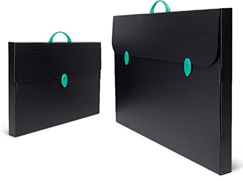 Infantasia PP Design Tasche Roma nero 380x525x55mm für DIN A3 Präsentationsmappe Zeichenkoffer schwarz