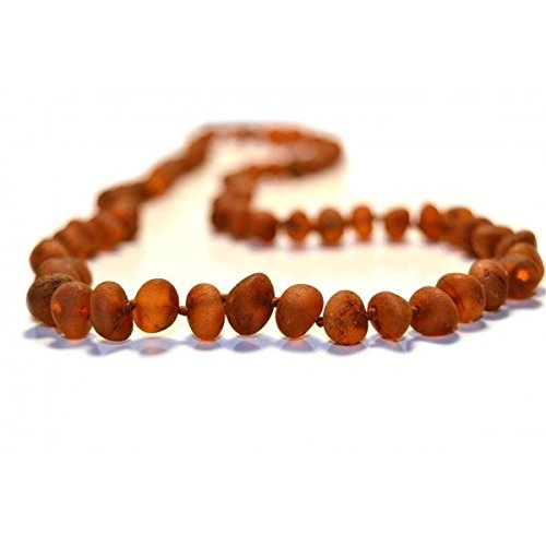 The Art of Cure Raw Amber Teething Necklace - FTIR Lab Tested Authentic Amber (COGNAC) by The Art of Cure   B01FEBTVJ0