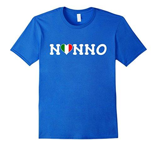 Mens Nonno Italian Flag Heart T Shirt Medium Royal Blue