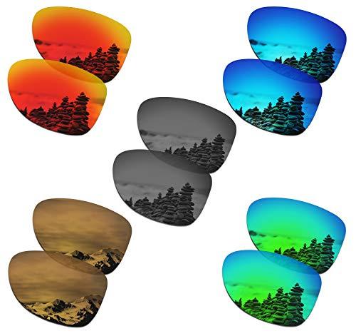 SmartVLT Set of 5 Men's Replacement Lenses for Oakley Dispatch 2 Sunglass Combo Pack ()