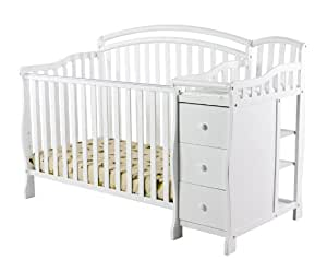 Dream on Me Hailee 5-in-1 Crib and Dressing Table Combo, White