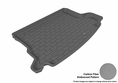 3D MAXpider Cargo Custom Fit All-Weather Floor Mat for Select Hyundai Tucson Models - Kagu Rubber (Gray) (Cargo Mat Model)