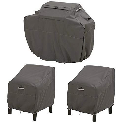 Mikash Raven 3 Piece Grill and Patio Lounge Chair Cover Set | Model GRLLST - 80 ()