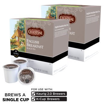 Celestial Seasonings English Breakfast Tea 180 K-Cup Packs by Celestial Seasonings