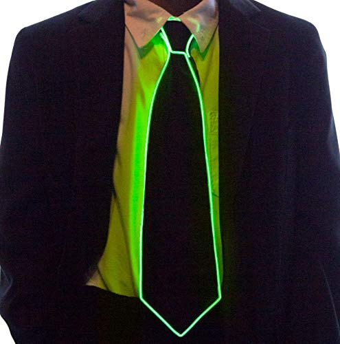 - Neon Nightlife Light Up Neck Tie for Kids, Green