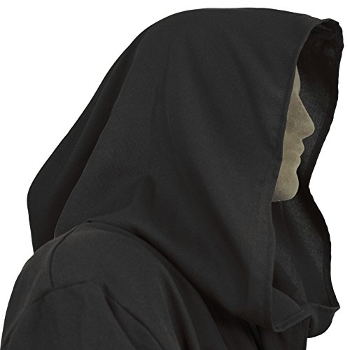 Men's Jedi Sith Robe Cloak Costume Adult Brown Black (Medium (54 (Anakin Skywalker Robe)