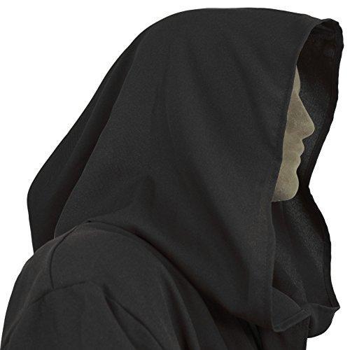 Men's Jedi Sith Robe Cloak Costume Adult Brown Black (Small/Teen (48 (Dark Jedi Costume)