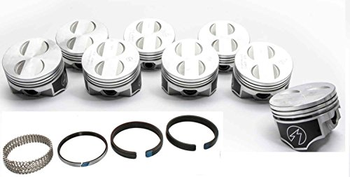 Speed Pro/TRW Ford 289 302 5.0 Forged Coated Flat Top Pistons+MOLY Rings Kit +30 (4.030