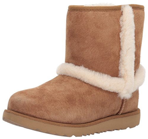 UGG Girls K Hadley II WP Pull-On Boot, Chestnut, 6 M US Big Kid by UGG