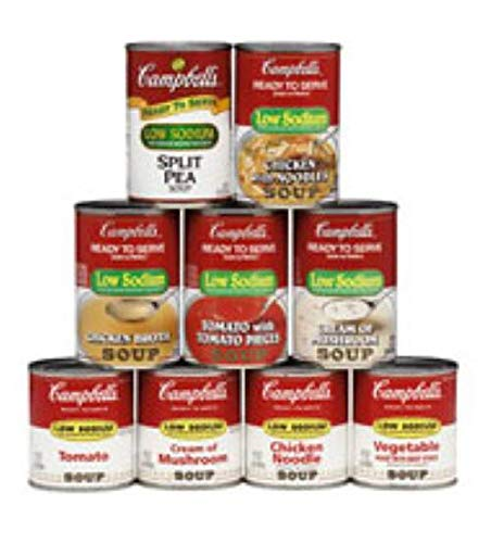 - Campbells Ready To Serve Low Sodium Tomato Soup, 7.25 oz. can, 24 per case