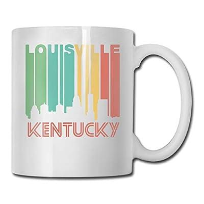 Retro 1970's Style Louisville Kentucky Skyline Funny Coffee Mug Mark Mug Unique Porcelain Mugs