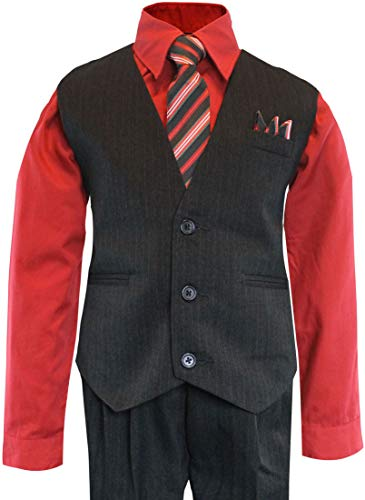 Luca Gabriel Toddler Boys' 4 Piece Pinstripe Vest Shirt for sale  Delivered anywhere in USA