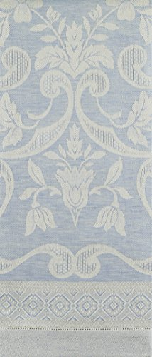 Tessitura Pardi Damasco Sky Blue Misto Linen Large Italian Guest Towel ()