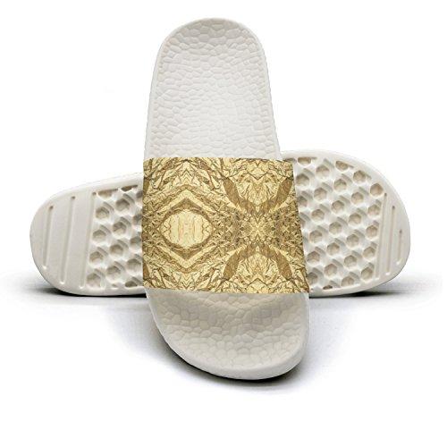 Gold Paper Lattice Energy Panels Free Patterns Summer Slippers For Men