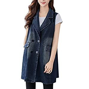 Autumn Fashion Women Denim Vest Slim Fit  Casual Jacket Coat