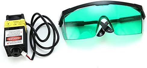 Módulo láser 405 nm 500 mW azul DC 12 V con gafas protectoras para ...