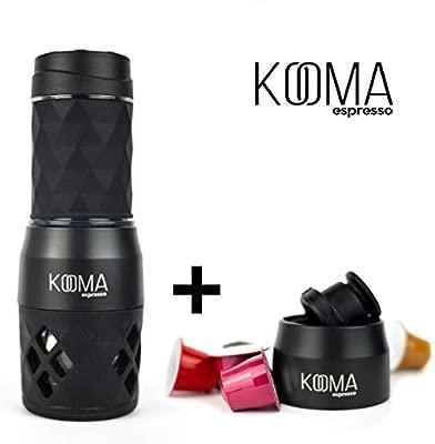 Cafetera portátil espresso, para capsulas compatibles NS y café molido, máquina de café capsulas y café molido, 19 bares de presión manual, ideal para ...