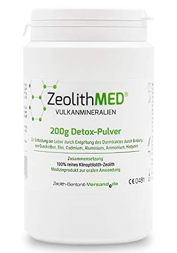 Zeolite MED Detox Powder 200g, Medical Device (200g Powder)