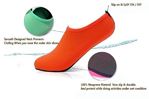 Wowfoot Water Shoes For Women Men's Aquatic Socks Flexible Fitness Pool (2. M(W:6.5-7.5, M:5.5-6.5), Black)
