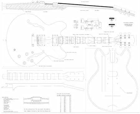Amazon Com Full Scale Plans For The Gibson Es335 Archtop Jazz
