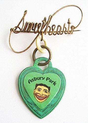Asbury Park New Jersey Tillie Face Souvenir Sweetheart Heart Charm - Sweet Face Jersey