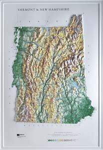Hubbard Scientific Raised Relief Map 959 Vermont New Hampshire State Map by Hubbard Scientific