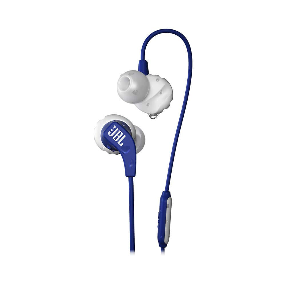 JBL Endurance Run, in-Ear Sport Headphone with One-Button Mic Remote – Blue