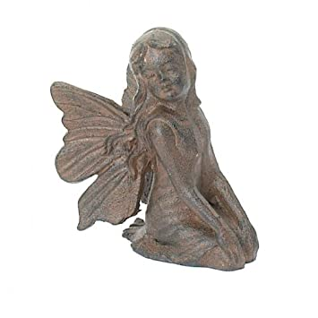 angel garden ornaments uk statues australia praying statue kneeling cast iron fairy pixie home decor