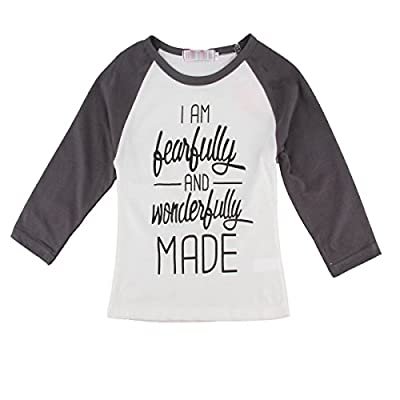 Puseky Baby Boys Girls Letter Printing Long Sleeve T-Shirt Clothes Pullover Top