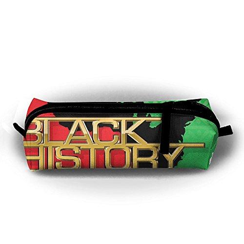EWFBVa Durable Zipper Stationery Bag Black History Month Empowerment Big Capacity Pencil Case -