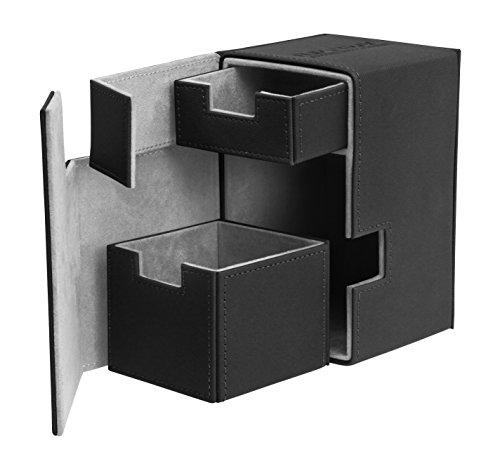 Flip N Tray Xenoskin Deck Case 100/120 Card, Black (Best Mtg Deck Box)