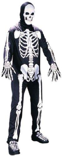 Fun World Skeleton, Black, Unisex - Men up to 6/200 lbs… Womne Size 4-14 -