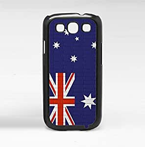 Australia Flag Red White and Blue with Brick Pattern Background Hard Snap on Phone Case Cover Samsung Galaxy S3 I9300 by lolosakes