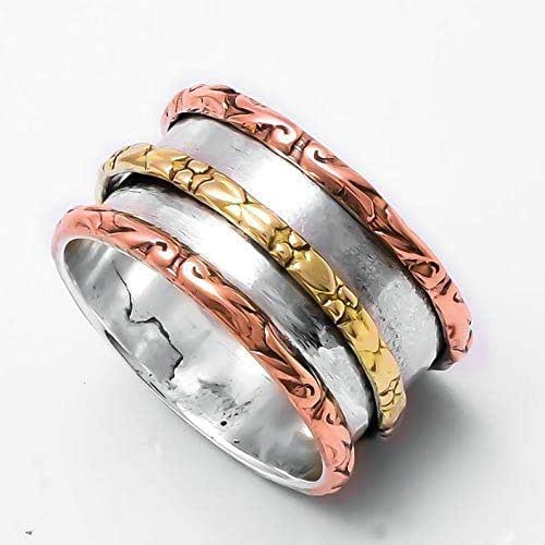 Thumb Ring Worry Ring Women Ring Statement Ring Gift For Her Spinner Ring Boho Ring 925 Silver Ring Meditation Ring Anxiety Ring