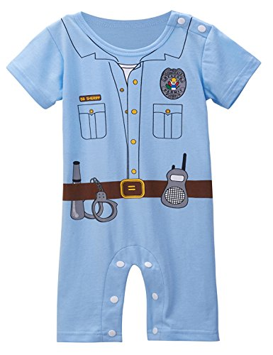 Mombebe Baby Boys' Police Uniform Costume Romper (18-24 Months) (Toddler Police Uniform)