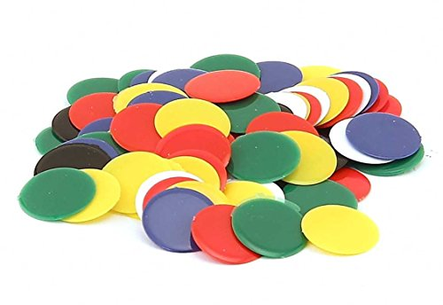 Hygloss Products, Inc 400-Opaque Products Chips-Plastic Color Bingo Supplies Discs for Counting, Game Tokens, Markers-Opaque, 7/8