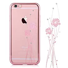 Iphone 6 Case & Iphone 6s Case ,Comma® Cystal Balle Design Case for Iphone 6 Case & Iphone 6s Case , Beautiful Design (Rose Gold(ballet))