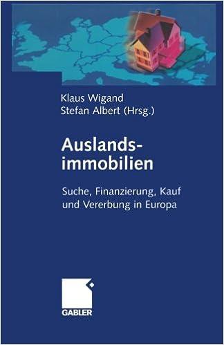 Auslandsimmobilien German Edition 9783322904089 Economics Books
